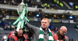 Neil Lennon has been confirmed as Celtic's new permanent manager. Photograph: Mark Runnacles/Getty