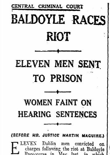 Sentence report, Monday November 25th, 1940, The Irish Times