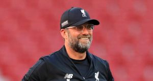 Liverpool manager Jürgen Klopp during a training session at the Estadio Metropolitano, Madrid: 'My career so far is not unlucky.' Photograph: Mike Egerton/PA Wire