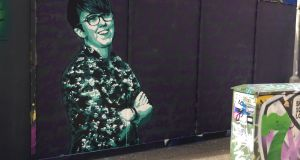 Mural of Lyra McKee in Belfast city centre: One way to honour her memory would be for a real university to promote  study of her brave work. Photograph: David Young/PA