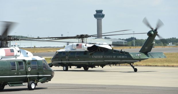 Trump's Irish visit: Marine One helicopter makes dummy run