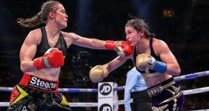 Delfine Persoon is to lodge a complaint after her controversial defeat to Katie Taylor in New York. Photograph: Tom Hogan/Inpho
