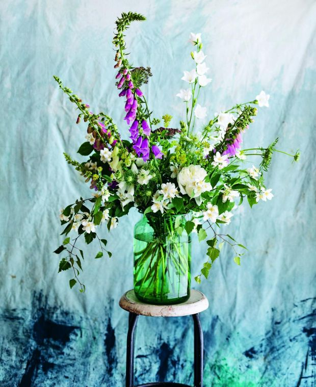 Posies of home-grown freshly cut flowers can feature blooms which are too difficult to produce commercially