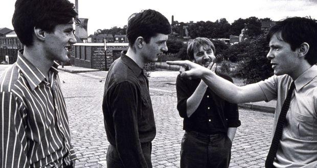 Joy Division en 1979: (desde la izquierda) Stephen Morris, Ian Curtis, Peter Hook y Bernard Sumner. Fotografía © Paul Slattery / Retna