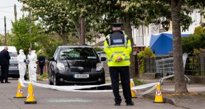 Gardaí at the scene of a shooting in Coolock, Dublin, last week. Photograph: Tom Honan