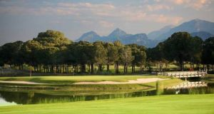 Gloria golf resort in Belek, southern Turkey, offers three courses to play