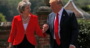 Theresa May and Donald Trump at Chequers in July 2018. Photograph: Hannah McKay/File Photo/Reuters