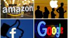 Amazon, Apple, Facebook and Google are facing a wide-ranging investigation in the US. Photograph: Reuters