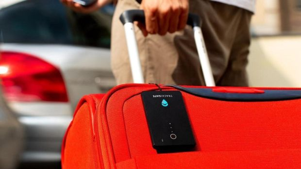 The Trackisafe luggage device – sold in Ireland by Vodafone as V-Bag – will set you back €60, plus €2.99 for a month to keep the service active.
