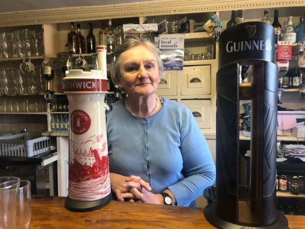 Helen at Teddy O'Sullivan's in Kilmacalogue: 'Old school in the best way'. Photograph: Róisín Ingle