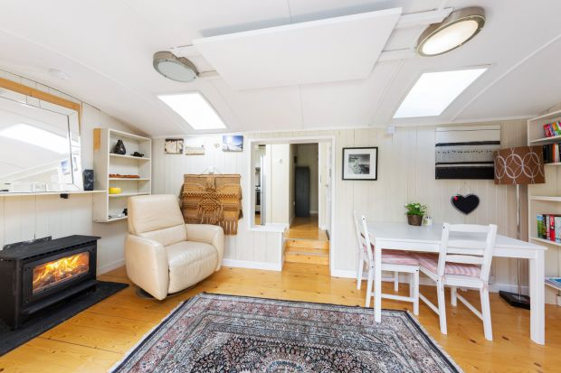The converted railway carriage would make for ideal guest accommodation.
