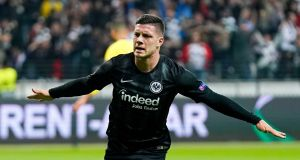 Serbian forward Luka Jovic has joined Spanish La Liga side Real Madrid. Photograph: EPA