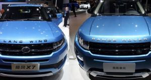 Jiangling Motor Corporation's   Land Wind and Jaguar Land Rover's Range Rover  Evoque. Jaguar Land Rover   won a legal case in March to prevent the Chinese car brand from selling  its vehicle