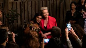 Mindy Kaling and Emma Thompson in Late Night. Photograph: Amazon Studios