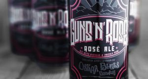 Guns'n'Rosé: the hibiscus-and-prickly-pear ale the band object to pours with a tinge of pink