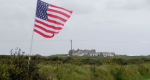 A US  flag flies in front of Trump International Golf Links and  Hotel at  Doonbeg. Photograph:  Niall Carson/PA Wire
