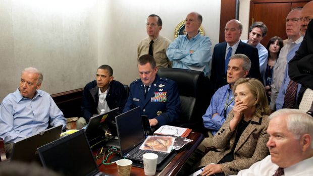 The Situation Room of the White House, May 1st, 2011. Photograph: Pete Souza/The White House/MCT via Getty Images