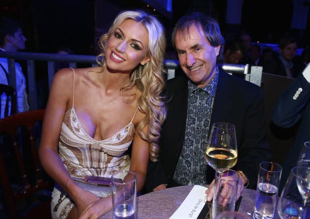 Chris de Burgh with his daughter, Rosanna Davison, in 2015. Photograph: Andreas Rentz/Getty
