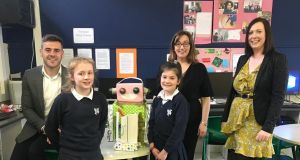 The VGo robot at St Catherine's girls school in Cabra, Dublin.