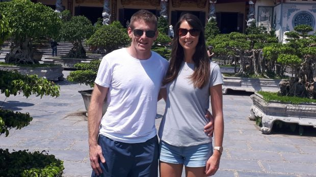 Irish couple and teachers Michelle Watters and Bryan McCabe who are based in Dubai