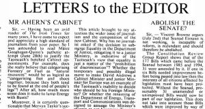 Varadkar's letter about Bertie Ahern's cabinet, aged 18