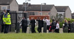 The remains of Jordan Davis are carried into  the Church of Our Lady Immaculate, Darndale. Photograph: Colin Keegan/Collins Dublin
