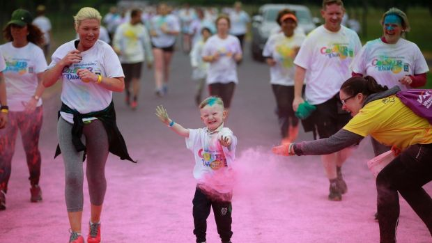 Colour Dash, a 5k fun run to raise funds for the Irish Cancer Society, takes place in June. Photograph: Nick Bradshaw