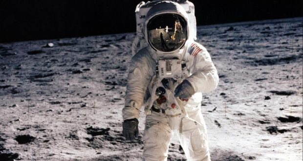 Buzz Aldrin on the moon during the Apollo 11 visit, on July 20th, 1969. Photograph: Nasa/AFP/Getty