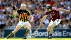 Kilkenny's TJ Reid in action against Galway in last year's hurling championship final at Croke Park. Photograph:  Ryan Byrne/Inpho