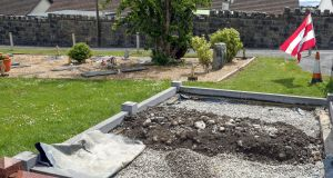 The grave where Sylva Tukula is buried at Bohermore Cemetery in Galway.