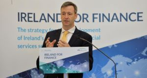 "Minister of State for Financial Services and Insurance Michael D'Arcy said it was the Government's position that the ""recalibration"" of awards downwards would involve a number of factors. Photograph: Alan Betson"