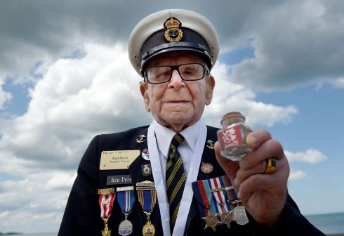 VETERAN: Canadian veteran Don Deon poses during the international ceremony on Juno Beach in Courseulles-sur-Mer, Normandy, northwestern France, on June 6th as part of D-Day commemorations marking the 75th anniversary of the World War II Allied landings in Normandy. Photo by Guillaume Souvant/AFP/Getty Images