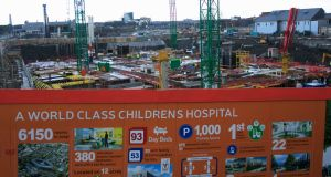 The site for the national children's hospital in Dublin city centre. Photograph: Gareth Chaney/Collins