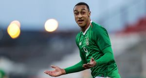 Adam Idah had Ireland's best chance of a goal in the 0-0 draw with Mexico at the Toulon Tournament. Photograph:  Laszlo Geczo/Inpho