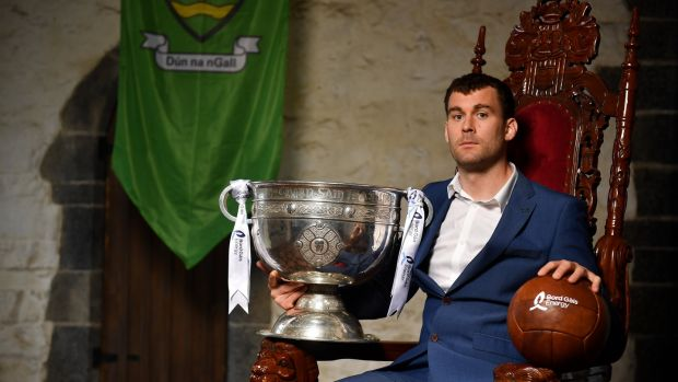 Donegal's Eamon McGee at the launch in Drimnagh Castle of the Bord Gáis Energy GAA Legends Tour Series at Croke Park. Photograph: David Fitzgerald/Sportsfile