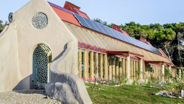 A public school in Argentina, built by Earthship