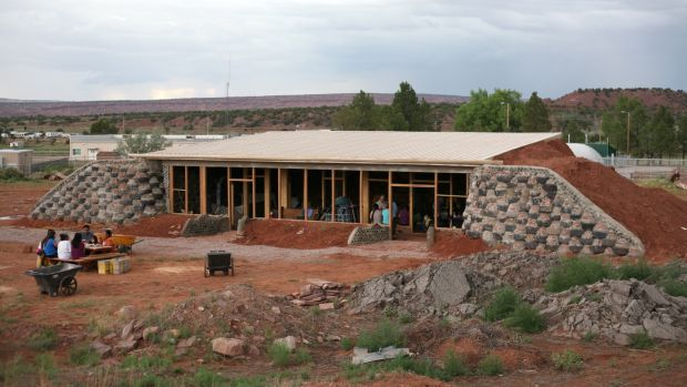 An Earthship build – a veterinary clinic in New Mexico