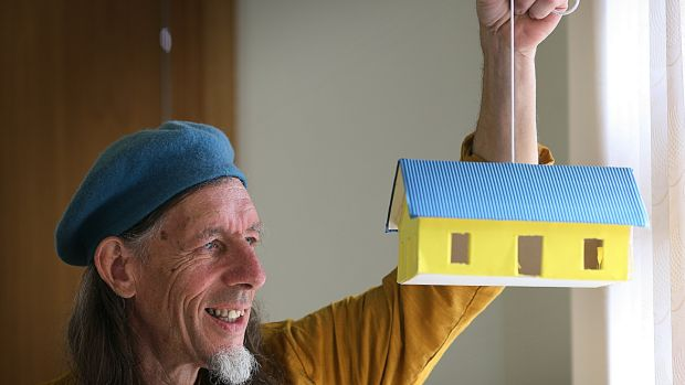 Architect Peter Cowman instructs people on how to design affordable eco-builds. Photograph: Brian Farrell