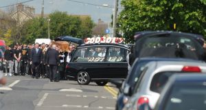 The funeral of Sean Little in St Luke the Evangelist Church in Coolock