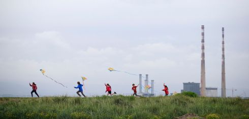 SOARING: Lauren Asple (10), Shane Carroll (11), Katie Sheridan (9), Eoin Carroll (9) and Sadie Lysaght (9) practice their kite flying skills at the launch of the Dublin Kite Festival 2019 which is taking place on Sunday, June 9th on North Bull Island, Clontarf. Photograph: Nick Bradshaw/The Irish Times
