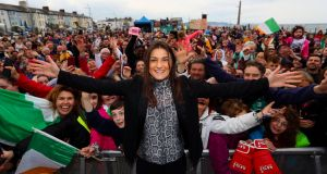 Katie Taylor  : 'It's incredible the support I've got here, even during the low times' Photograph: Tommy Dickson/INPHO