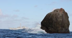 Rockall, pictured in 2012. Photograph: Irish Defence Forces/Flickr