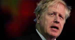 Tory leadership: Boris Johnson has claimed only he can see off both Nigel Farage and Jeremy Corbyn. Photograph: Brian Lawless/PA Wire
