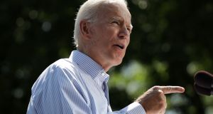 Joe Biden: lost his large lead in the polls. Photograph: Dominick Reuter/AFP