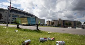 Ballymun in Dublin was deemed a litter black spot and placed at the foot of the Irish Business Against Litter anti-litter league rankings. Photograph: Tom Honan/The Irish Times
