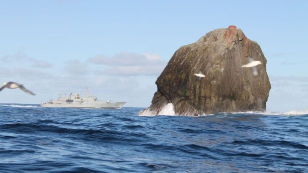 Irish Naval Vessel L.É. RÓISÍN on a routine Maritime Security Operations patrol off Rockall. Photograph: Defence Forces