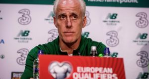 "Mick McCarthy: ""So long as we win I'm not bothered. I'm not saying we are going out to do anything other than try and play football, but I want to win."" Photograph: Ryan Byrne/Inpho"