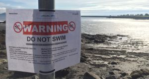 A no-swim notice was in place across the entire south Dublin coastline last week following a sewage overflow at the Ringsend wastewater treatment plant due to heavy rainfall.