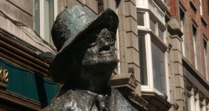 James Joyce captured a kind of atomic essence of Dublin. Photograph: Getty Images
