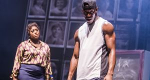 Mica Paris and Jamal Kane Crawford in a scene from Fame The Musical.